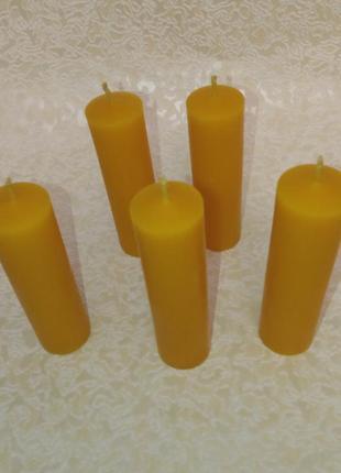 5 шт. свечи натуральные из воска 10 см