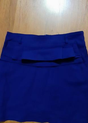 Юбка цвет синий электрик