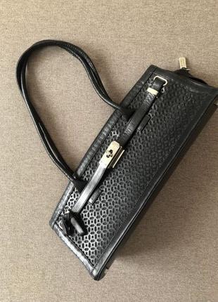 Кожаная сумка багет stuart weitzman оригинал как hermès