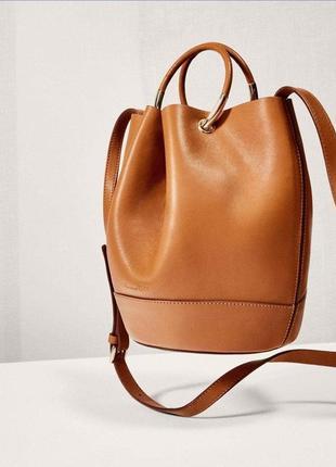 Кожаная сумка massimo dutti в стиле бохо