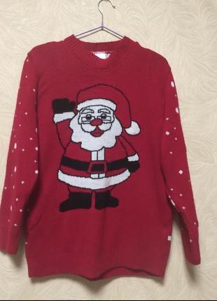 Новогодний свитер санта, свитер для фотосессии