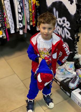 Детский костюм спайдермен на флисе.