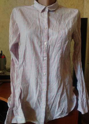 Нежно розовая в клеточку классическая рубашка 12/gap