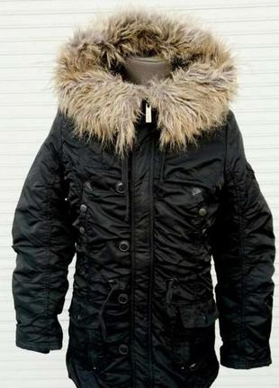Куртка аляска poolgirl  зимняя черная