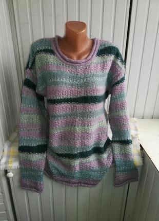 Шерстяной мохеровый свитер батал большого размера