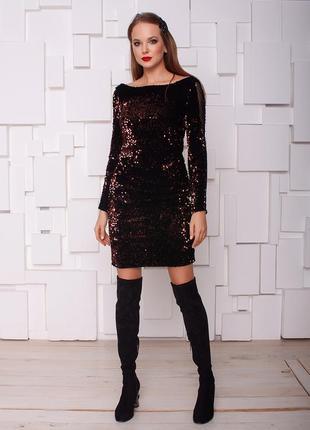 Вечернее платье паетки