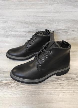 Нові! оригінальні шкіряні черевики ecco crepetray