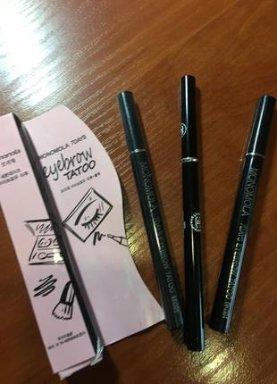 Подводка маркер карандаш для бровей с эффектом тату на 7 дней monomola 7 days eyebrow tato