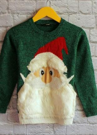 Новогодний свитер george на 6-7 лет рост 116-122 см