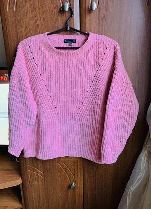 Свитер женский пудра розовый кофта
