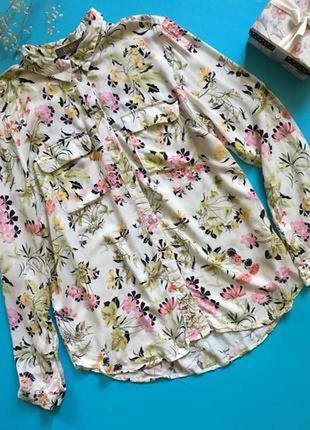Блуза с цветочным принтом вискоза