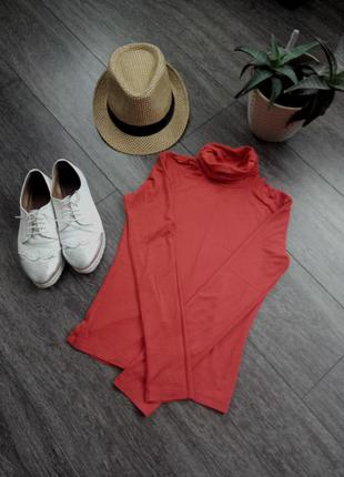 Водолазка гольф оранжевый по фигуре приятный материал к телу