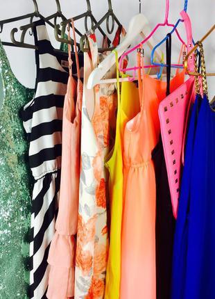 Обнова! двухслойное платье на тонких бретелях topshop!