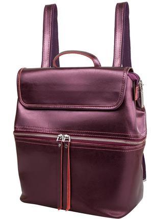 Женский кожаный рюкзак,сумка-рюкзак 3 цвета в наличии