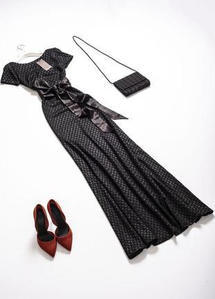Шикарное новое длинное вечернее платье в пол на высокий рост блестящее платье ewa maretti