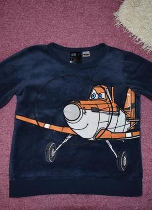 Свитшот кофта свитер вильветовые h&m