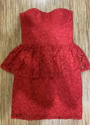 Платье красное коктейльное bik bok