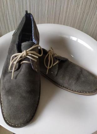 Туфли замшевые серые george 42р-р1 фото