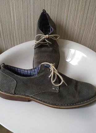 Туфли замшевые серые george 42р-р2 фото