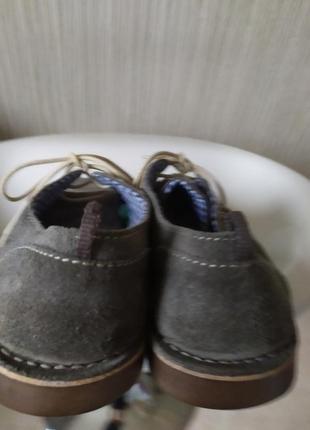 Туфли замшевые серые george 42р-р3 фото
