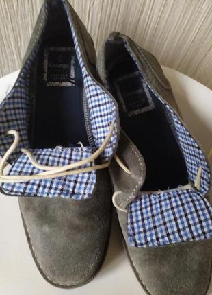 Туфли замшевые серые george 42р-р5 фото