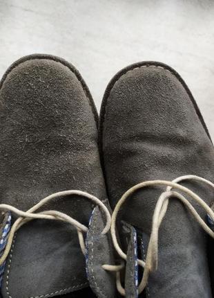 Туфли замшевые серые george 42р-р6 фото
