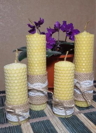Набор свечей из натуральной вощины