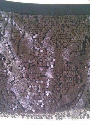 Юбка-мини с рисунком в пайетках zara trafaluc collection