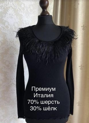 Роскошная блуза чёрного цвета премиум
