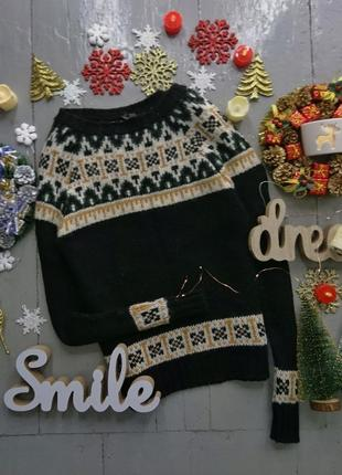 Зимний свитер с узором №102
