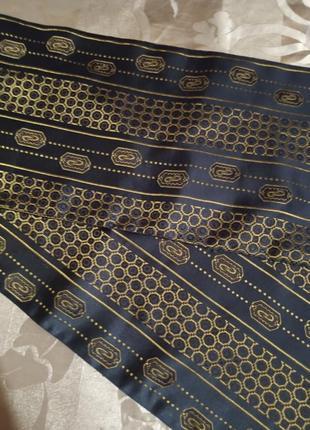 Чоловічий вінтажний шовковий шарф