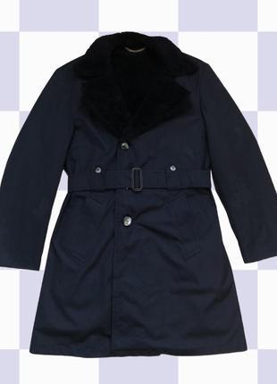 Пальто с подкладкой и воротом из эко-меха