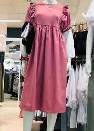 Миди платье с оборками primark