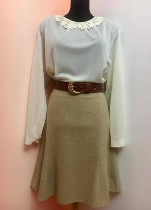 """Классическая юбка-года от премиум-бреда """"ralph lauren"""" бежевого цвета"""