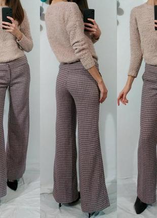 Теплые шерстяные штаны клеш