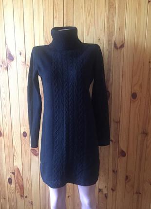 Платье свитер шерсть, очень теплое