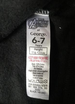 Свитшот george с начесом marvel 6-7 лет 116-122 см3 фото