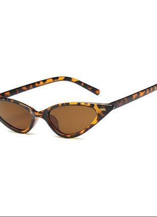 Леопардовые очки кошачий глаз солнцезащитные леопард панк рок