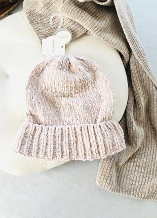 Милая шапка 💖primark синель велюр