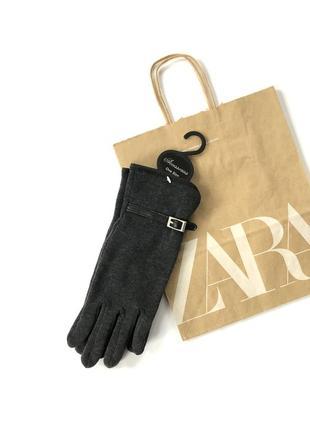 Новые тканевые перчатки на худую руку