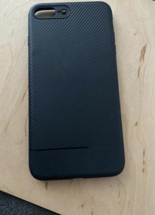Силиконовый чехол под карбон iphone 8 plus