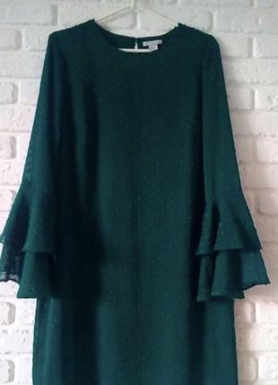 Платье свободного кроя,с воланами4 фото