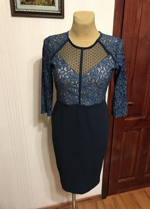 Нарядное платье с  разным кружевом