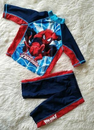 Купальный костюм спайдермен, человек паук spf40