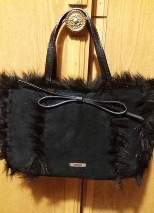 Сумка черная маленькая женская сумочка дамская