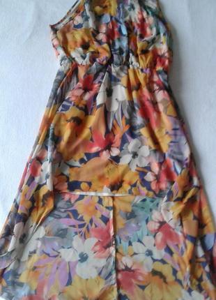 """Яркое каскадное (короткое спереди, длинное сзади) платье/сарафан """"atmosphere"""""""