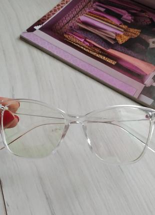Компьютерные очки, оправа кошачий глаз с антибликом