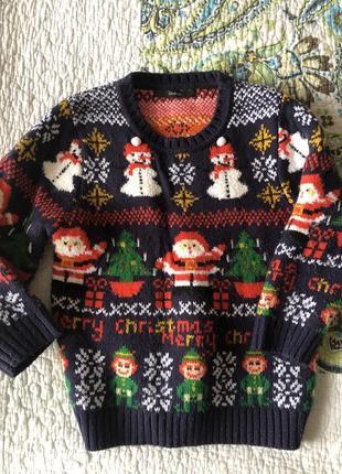 Новогодний свитерок на мальчика