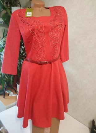 Платье эффектное, с вышивкой, брендовые вещи, обувь, вещи в распродаже!
