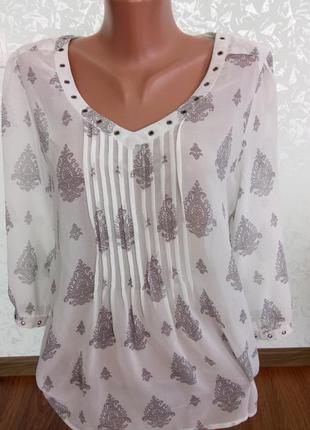 Нежная блуза из шифона next uk14 в идеальном состоянии
